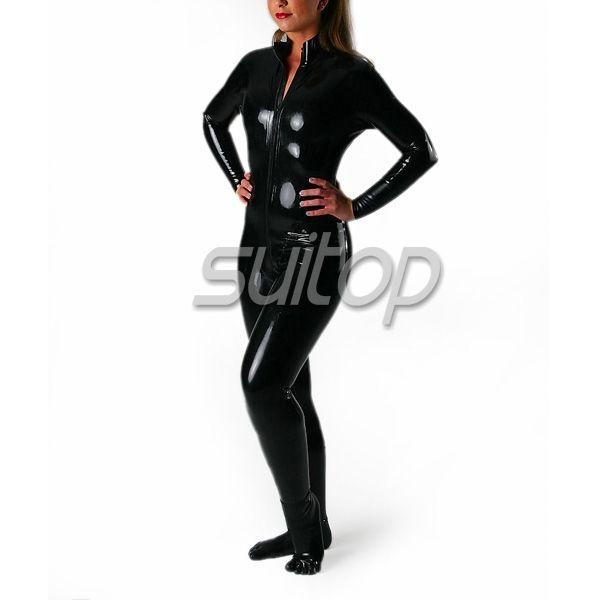 rubber Catsuit Teddies corset style with socks
