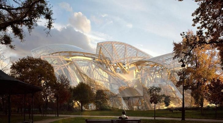 The beautiful forthcoming Frank Gehry-designed headquarters for the Fondation Louis Vuitton at the Jardin d'Acclimatation in Paris is nearing completion for its October opening.