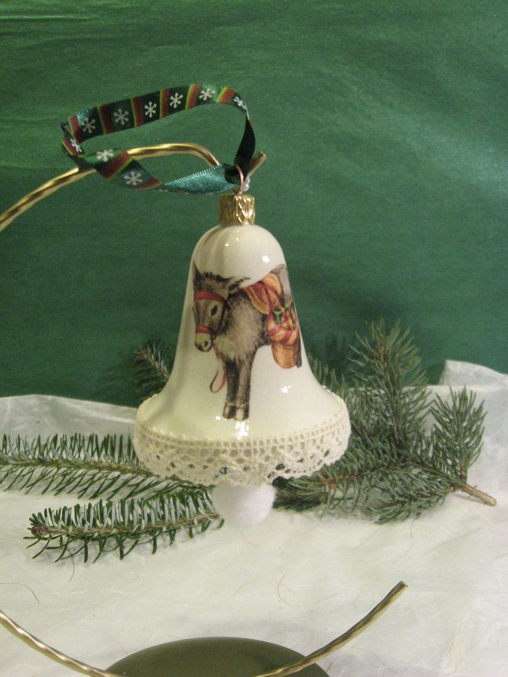Christmas bell - donkey