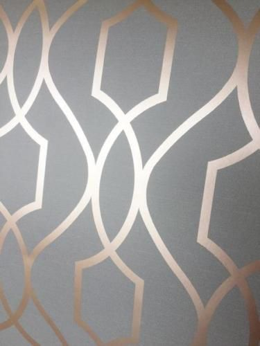 Apex Trellis Wallpaper Copper