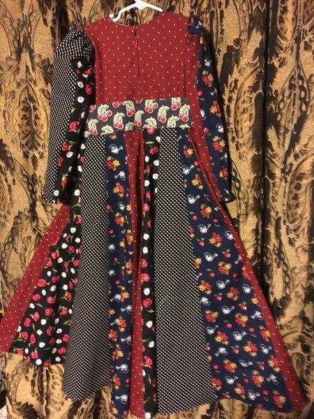 EID girls darker floral maxi dress  | EID modern islamic dresses for girls