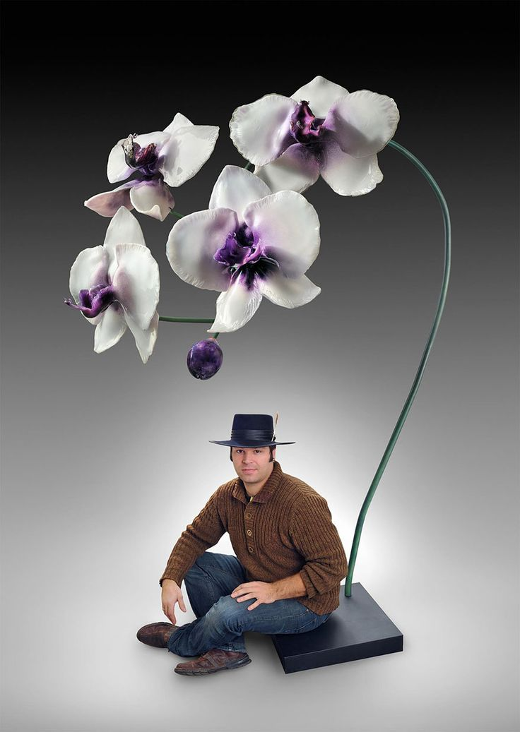 Jason Gamrath, a master glassblower based in Seattle, creates enormous detailed orchids and carnivorous flowers to help people who see his art appreciate the minute details of the plant kingdom.