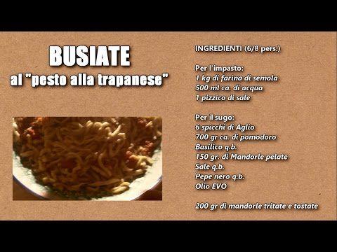 - Busiate al Pesto alla Trapanese