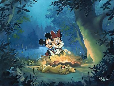 "DISNEY - ""DISNEY CAMPOUT "" - LIMITED 12"" BY 16"" 