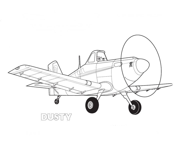 FREE Disney Planes Dusty Coloring Pages Printable