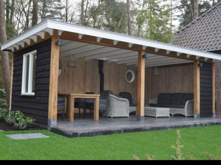 another shed turned outdoor seating
