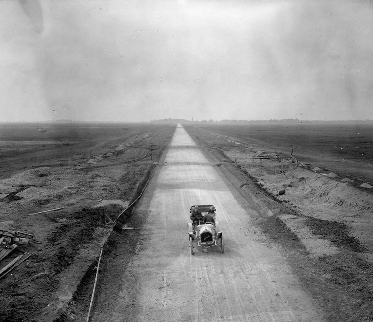 Long Island Motor Parkway, 1908 (it's now Interstate 495, the Long Island Expressway)