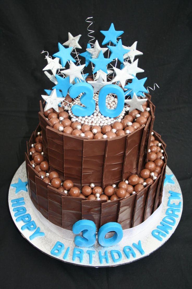 Mens Birthday Cakes 30th Tortas Pinterest Birthday Cakes 30th