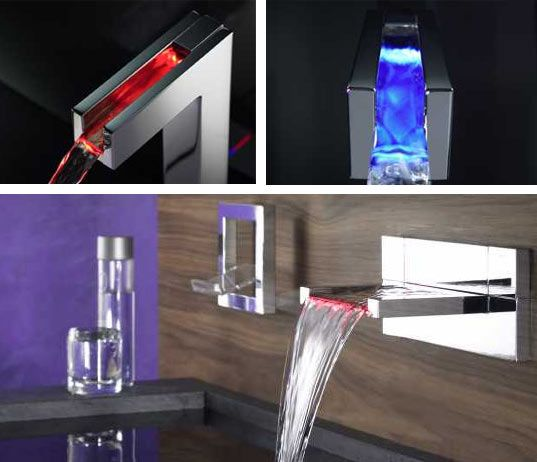 pretty cool faucet - it even changes color based on the water temperature....