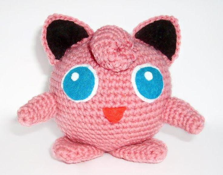 Gratis haakpatroon voor Jigglypuff (in het Engels). #pokemon van www.wolfdreamer-oth.blogspot.com