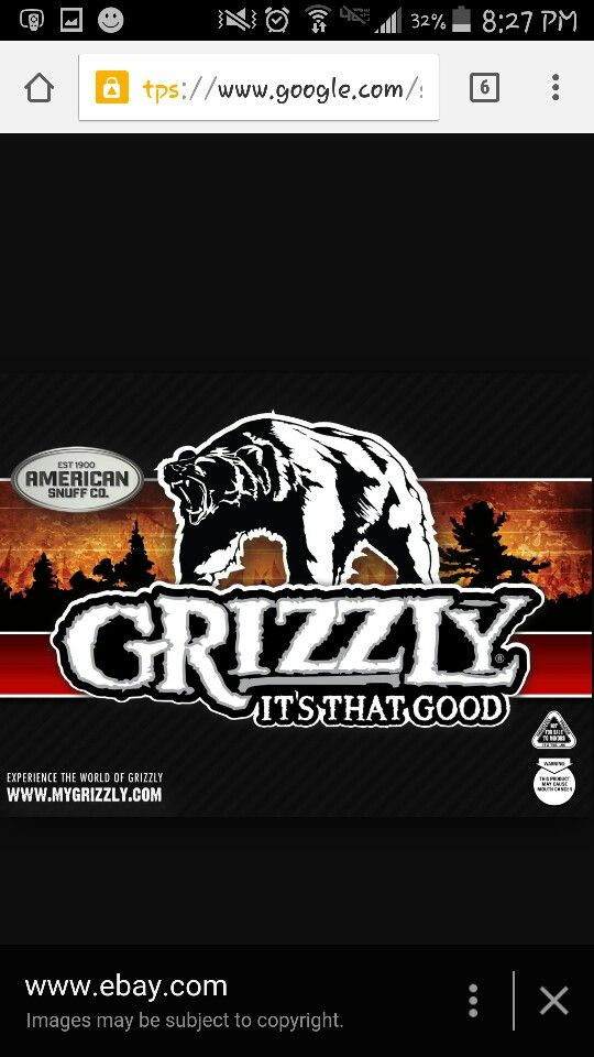 Grizzly chewing tobacco