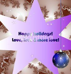 Happy holidays wishes on gradient background with ball
