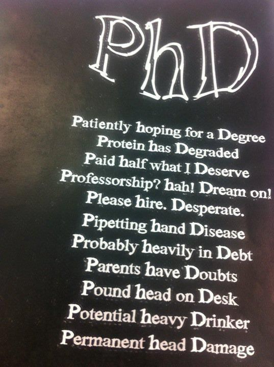 if I ever go for a PhD. at least now I know what it really means lol