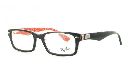 Ray-Ban Kunststoffbrille günstig online kaufen - schwarz/rot