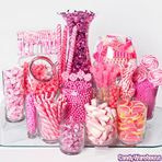 Orange & Pink Candy Buffet | Photo Gallery | CandyWarehouse.com Online Candy Store