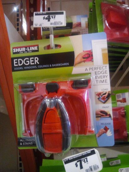 how to paint the perfect edge without painters tape, painting, I have a video showing you how to use this edger and I give you many tips I have learned the hard way and to make this so easy to use
