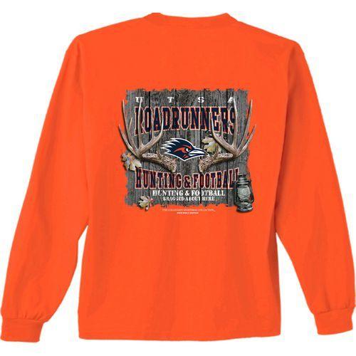 New World Graphics Men's University of Texas at San Antonio Hunt Long Sleeve T-shirt (Navy, Size XX Large) - NCAA Licensed Product, NCAA Men's Tops...
