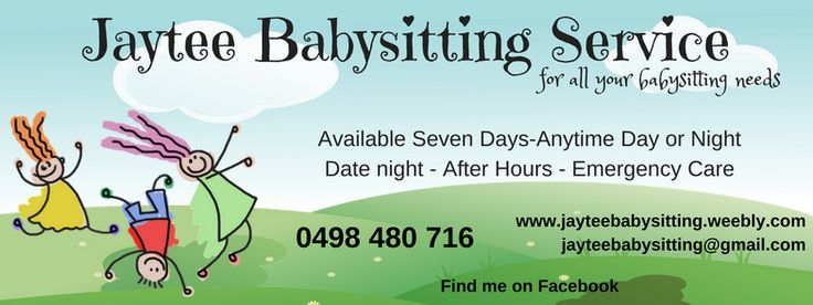 Jaytee Babysitting Service in Townsville, Qld. As advertised on the Townsville women website.