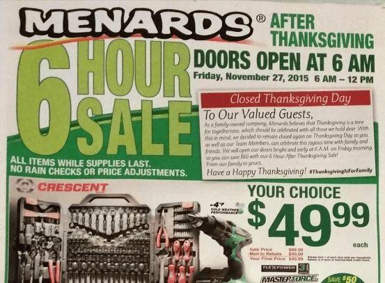 Menards Drawer Pull Jig Black Friday Deals At Menards For U0026 Full Ad Scan Blackfriday Menards