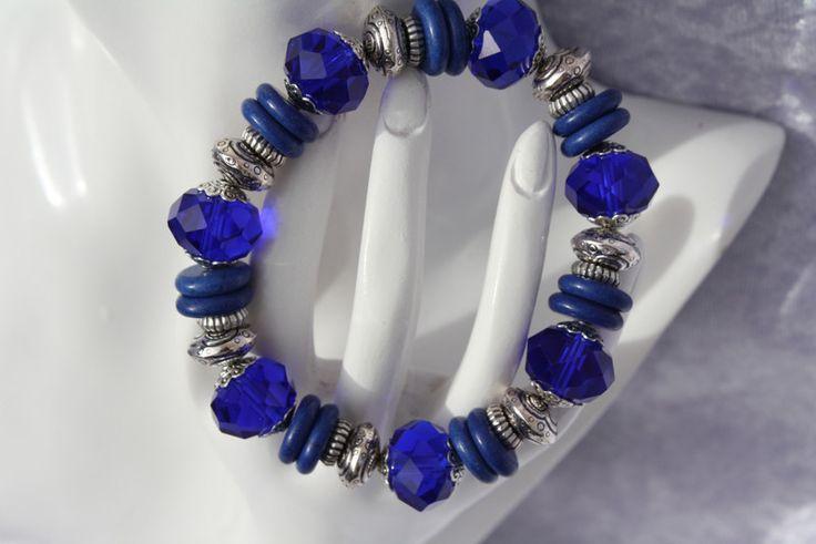 Wickelarmbänder - Armband blau silber Armschmuck Geschenk            - ein Designerstück von trixies-zauberhafte-Welten bei DaWanda