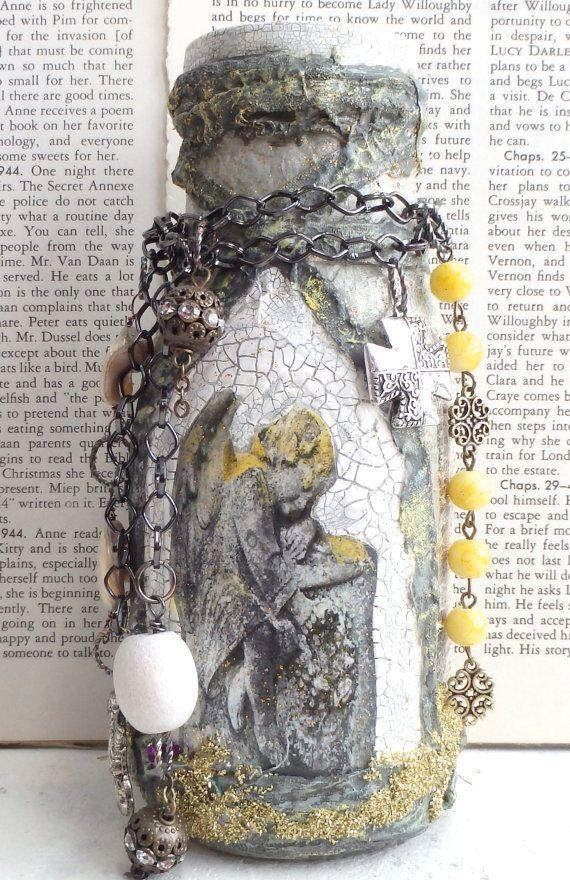 angel-prayer-bottle-altered-art-mixed