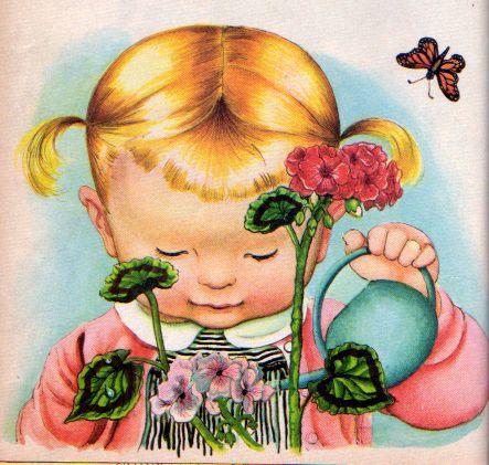 Eloise Wilkin, 1962- Watering Geraniums: Eloise Wilken, Illustrations, Vintage Illustration, Eloise Wilkins, Eloisewilkins, Children S Books, Wilkin Illustration