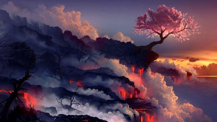 Fantasy Landscape Desktop Pics Wallpapers
