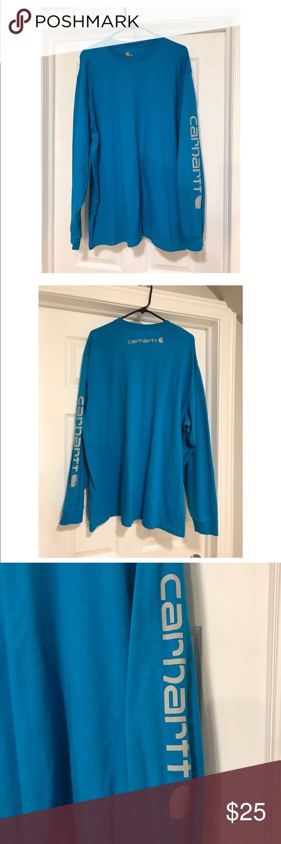 Men's Carhartt Shirt Men's Carhartt Shirt, size XL worn once. In excellent condition. Carhartt Shirts Tees - Long Sleeve