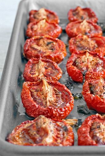 Slow Roasted Tomatoes - try these overnight in the residual heat of your wood fired oven!