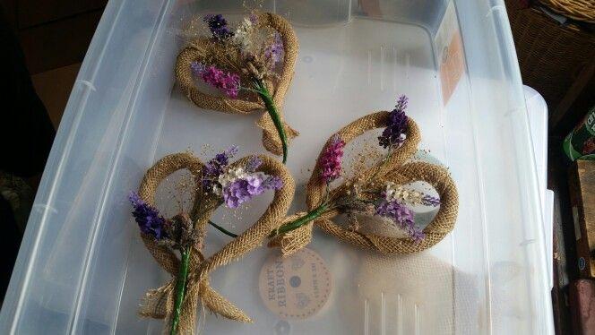 Lavender wreath for church pews ❤