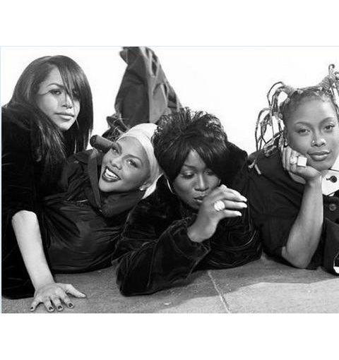 Aaliyah, Lil' Kim, Missy Elliot, and Da Brat