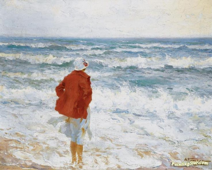 On the seashore Artwork by Charles Atamian Hand-painted and Art Prints on canvas for sale,you can custom the size and frame