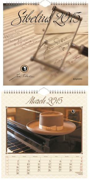 "The Jubileum wall calendar 2015 is Jean Sibelius™ -product with many words and thoughts of Sibelius. For example the November: ""God opens His door for a moment and His orchestra plays the Fifth Synphony."""