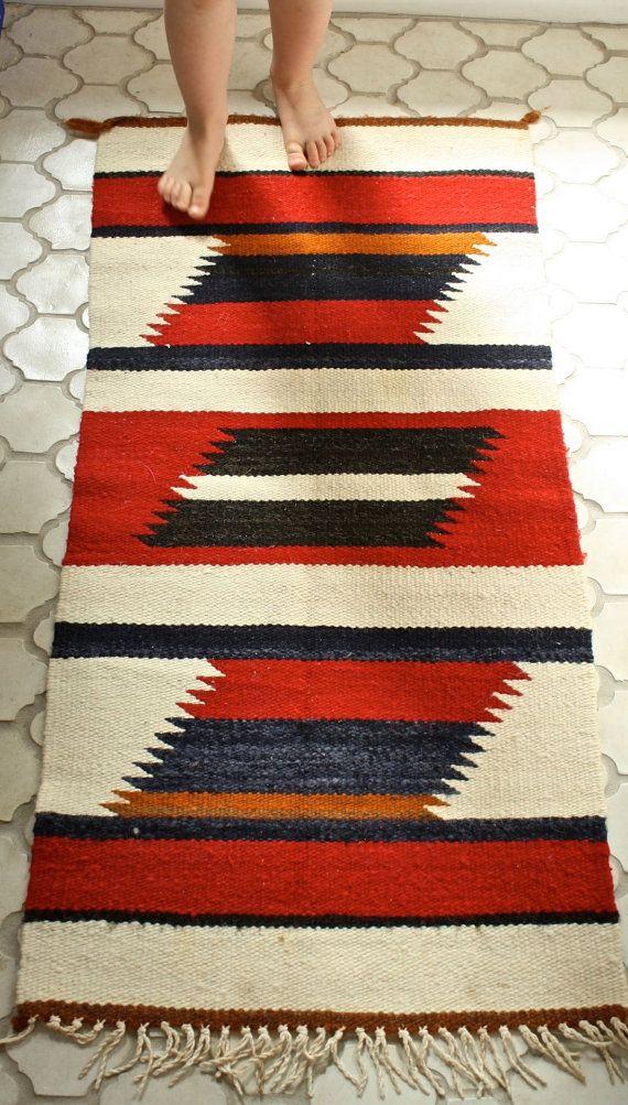 Gray Rugs Navajo rug wall hanging wool