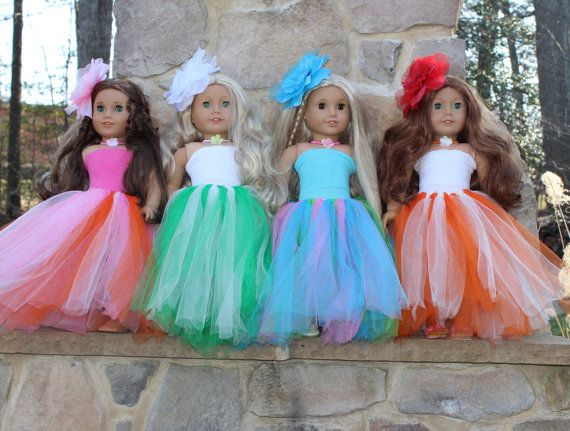American Girl Doll Tutu  18 Doll Tutu  by CarolinesDollHouse, $10.99