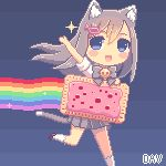 Pixel Nyan Cat by DAV-19.deviantart.com on @deviantART