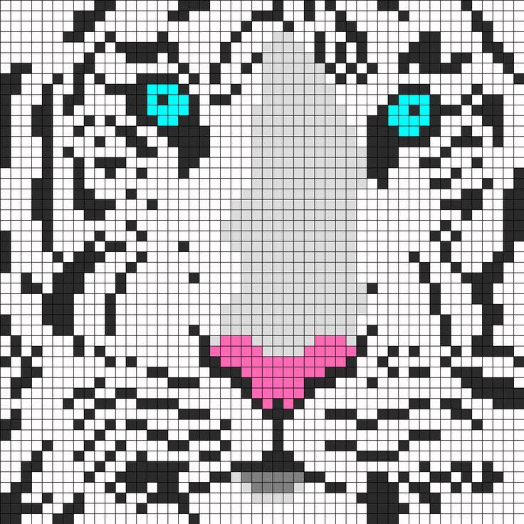 White Tiger Perler Perler Bead Pattern / Bead Sprite