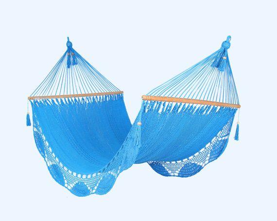 Light Blue Hammock, Handwoven Nicaraguan Hammock