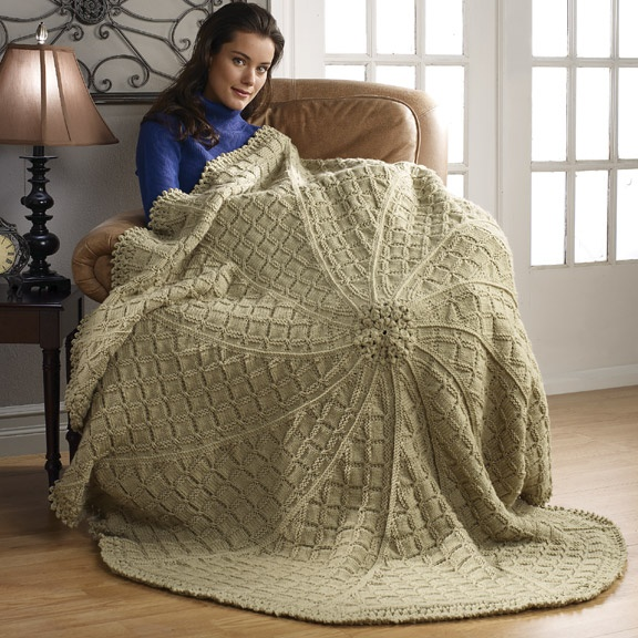 Free Knitting Patterns: Moss Stitch Lap Afghan Knit it ...