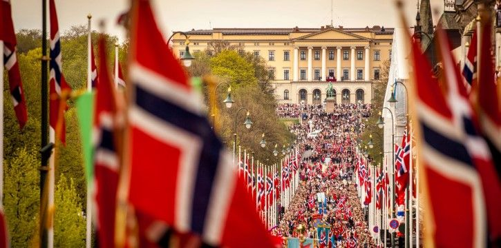 17 May in Oslo, Norway's Constitution Day.