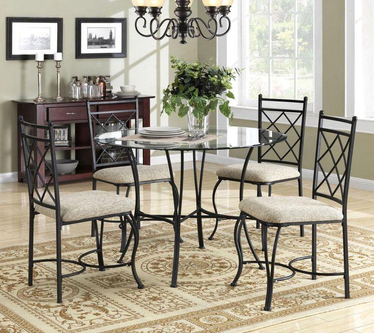 17 Best ideas about Round Kitchen Table Sets on Pinterest