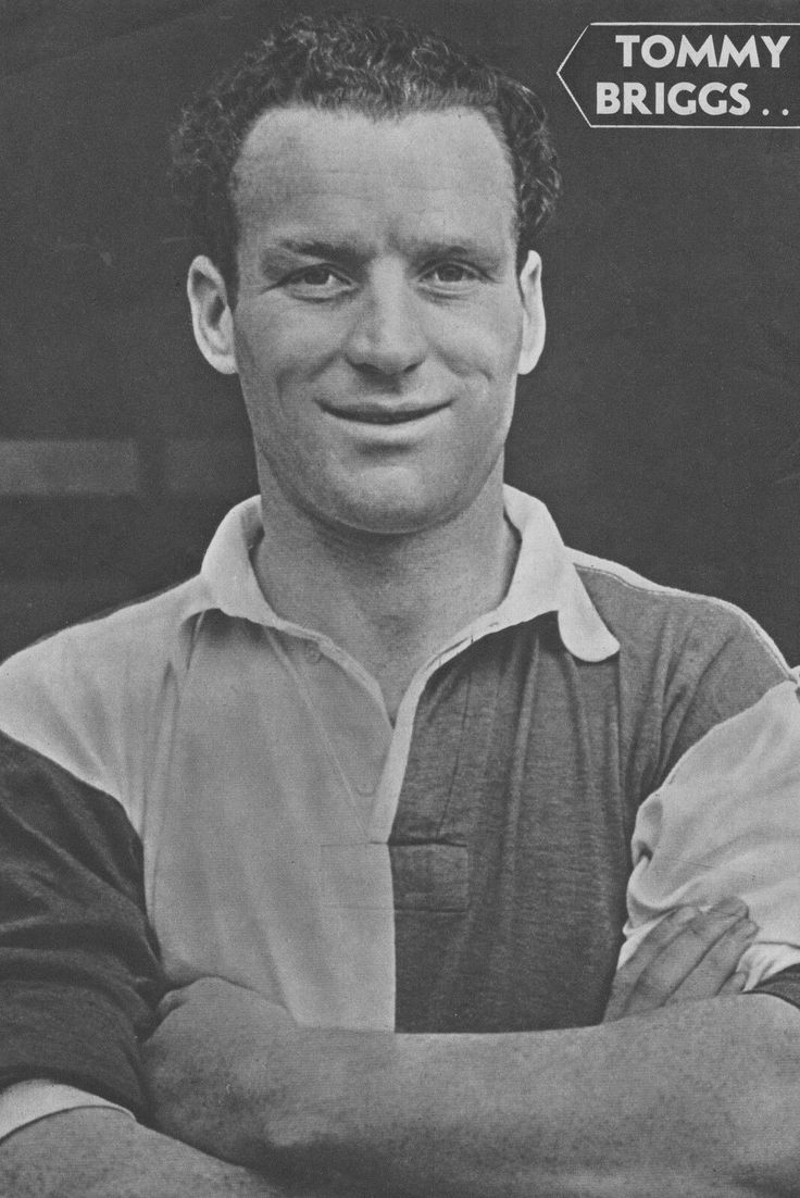 Tommy Briggs of Blackburn Rovers in 1954.