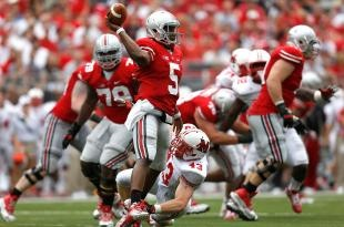Sophomore quarterback Braxton Miller showed he could do more than just run the ball, and the much-maligned Ohio State defense held standout Michigan State running back Le'Veon Bell in check as Urban Meyer won his Big Ten opener.