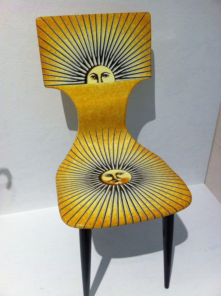 Classic Fornasetti chair in Design Museum, Milan