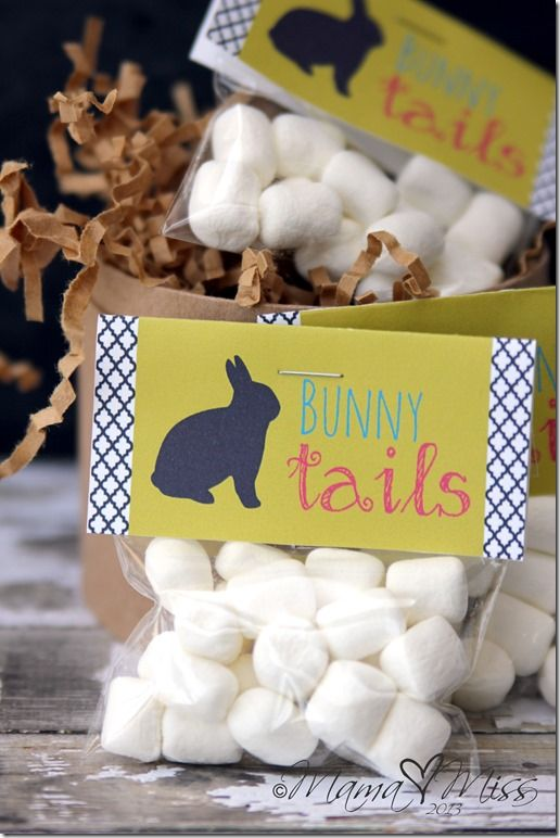 "Easter Goodie Bags - ""Bunny Tails"" with Marshmallows"