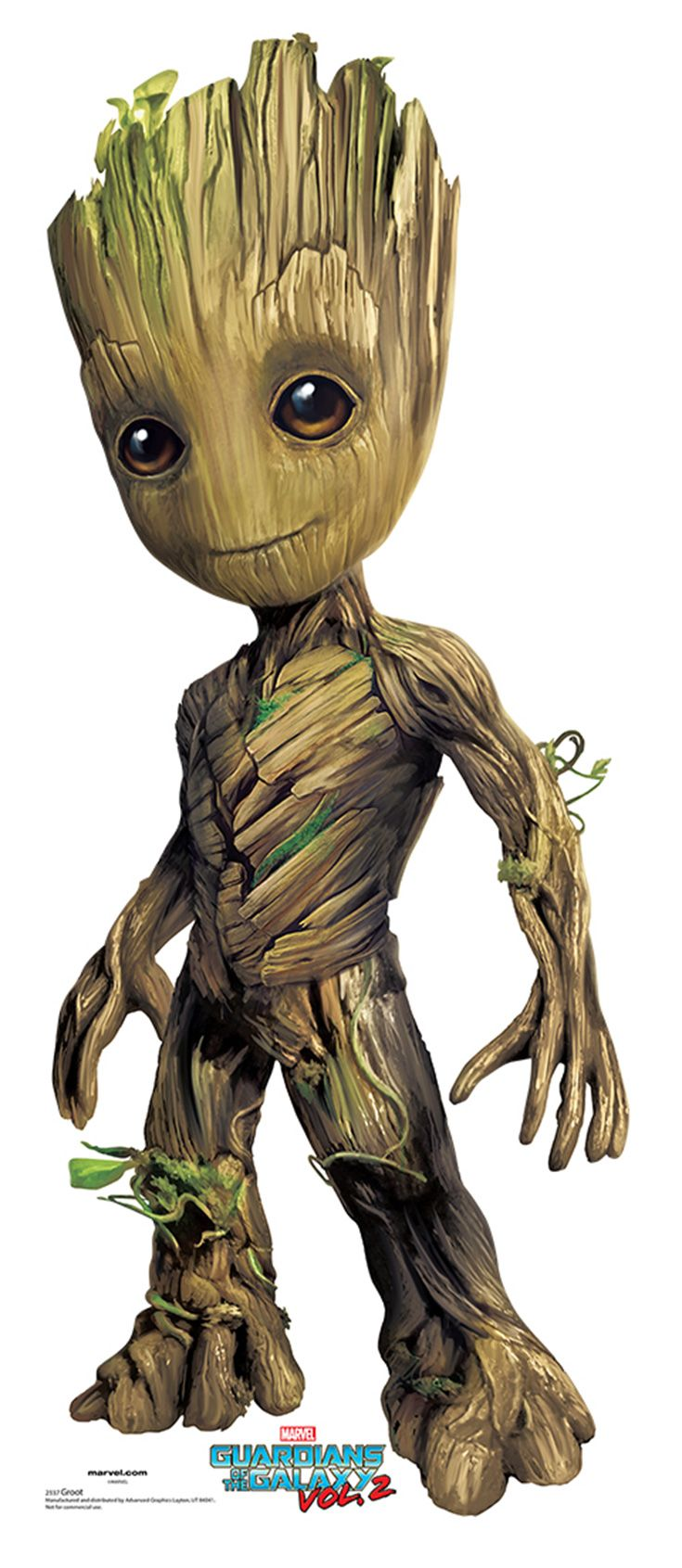 """BABY GROOT Cardboard Cutout Standup / Standee from """"Guardians of the Galaxy Vol 2 (2017)""""   Vin Diesel   36"""" H x 15"""" W   FREE Shipping"""