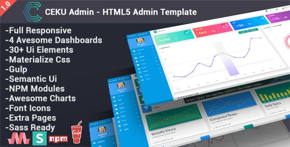 Admin Card Dashboard Embed Gallery Html5 Material Media