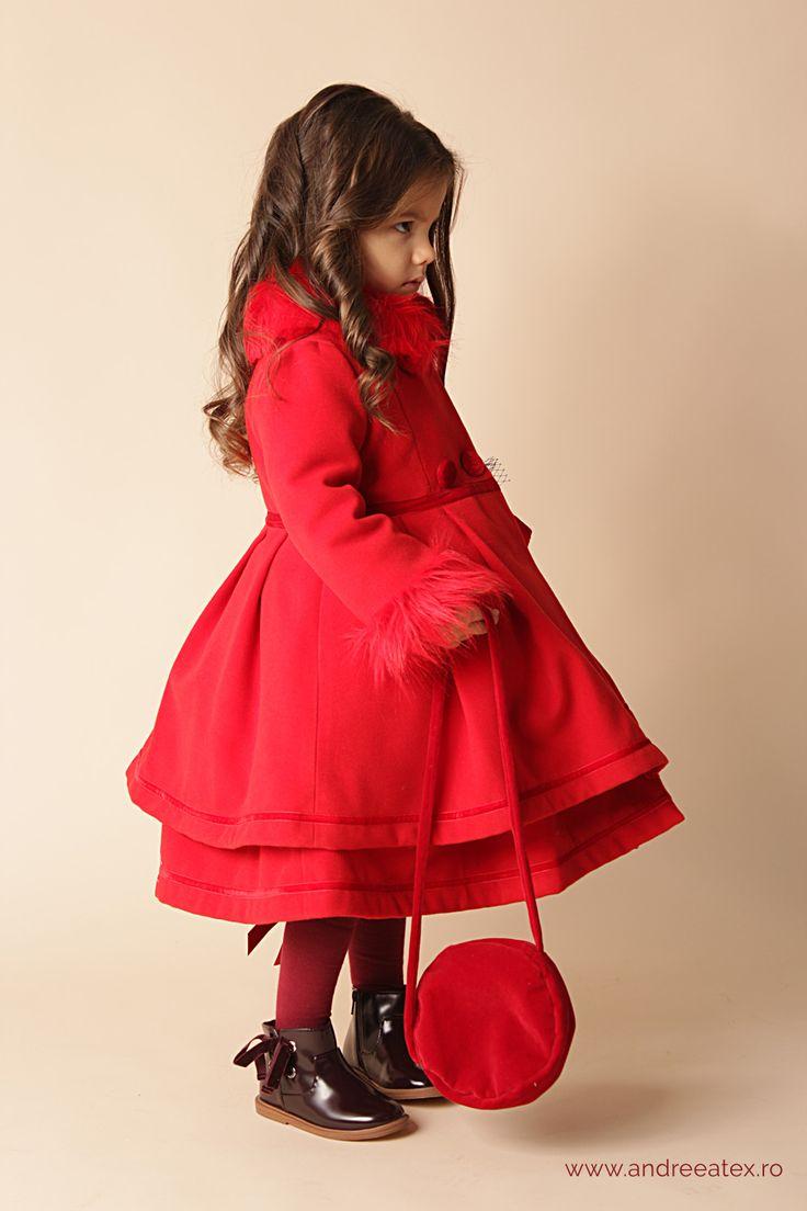 Paltonas fete Paltonaș Antoinette (1-2-3 ani) - roșu
