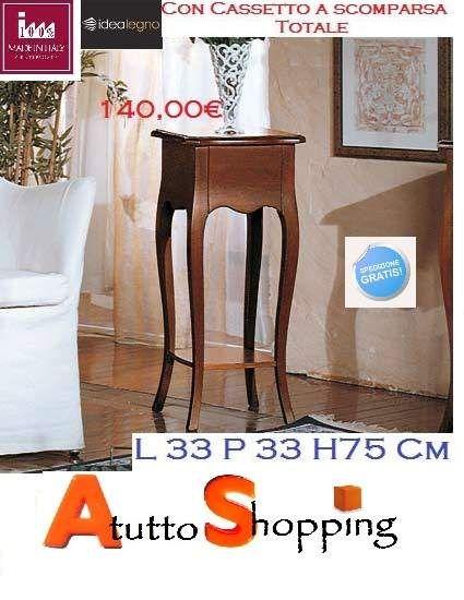 Tavolino salotto con cassetto a scomparsa