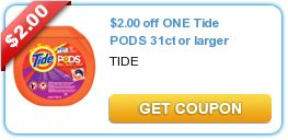 $2.00 off ONE Tide PODS 31ct or larger
